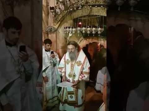 Молитва на Гробе Господнем о мире в Украине