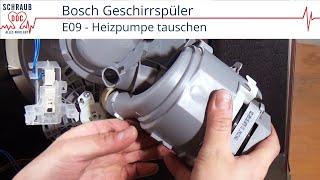 Bosch / Siemens / Neff Spülmaschine heizt nicht: Heizpumpe tauschen (Fehler E09)