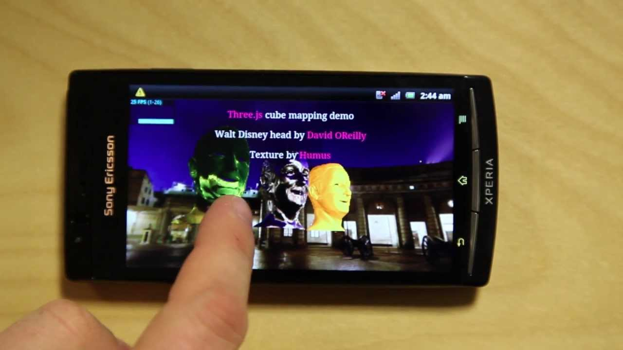 Sony Ericsson Quietly Added WebGL To Xperia 2011 Line
