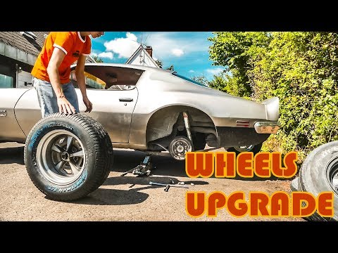 PONTIAC FIREBIRD GETS NEW CUSTOM WHEELS!