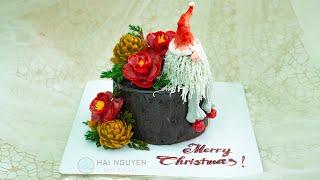 Bánh Mừng Giáng Sinh An Lành 2020  Bánh Tạo Hình Gốc Cây Mừng Noel 2020