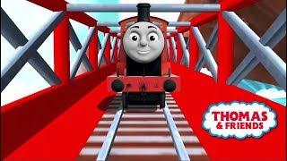 Tomas el tren en español - Thomas y sus amigos. James y sus amigos en las vías mágicas. Latino.