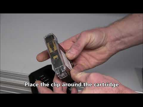CM 100: Insert, remove and clean cartridge