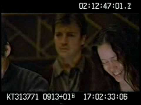 My favorite outtake from Firefly. Nathan Fillion having a laugh during a serious moment in the episode 'The Message'
