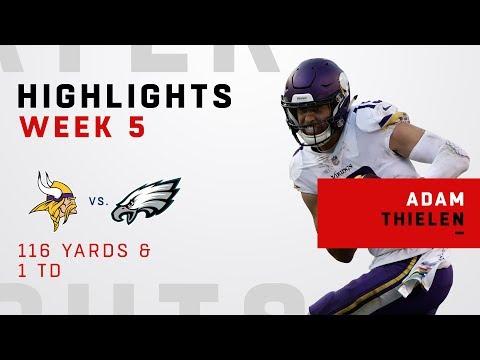 Adam Thielen Tallies Up 116 Yards & 1 TD vs. Eagles