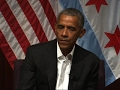 Obama makes first post presidency appearance
