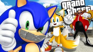 SONIC THE HEDGEHOG GETS KIDNAPPED MOD (GTA 5 PC Mods Gameplay)