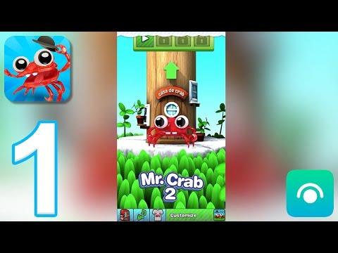 Mr. Crab 2 - Gameplay Walkthrough Part 1 - Jungle: Easy (iOS)