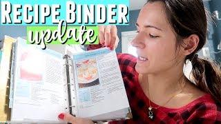 UPDATING MY RECIPE BINDER & How To Organize Your Recipes In A Binder Kitchen Organization