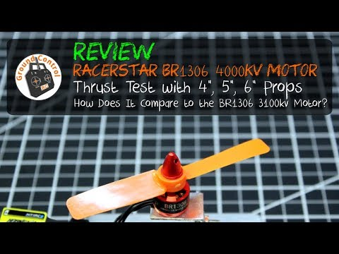 Review - RacerStar Racing Editions BR1306 4000KV Motor from Bangood