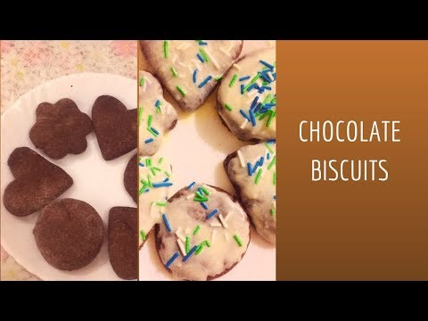 Classic Chocolate Cookies   How To Make Chocolate Biscuits   Easy Chocolate Biscuits Without Oven