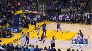 Curry and Casspi's 3-point shootout (full duel) Kings vs Warriors