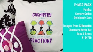 Chemistry Jokes Pillow. Heat Transfer Vinyl Fun With EV!