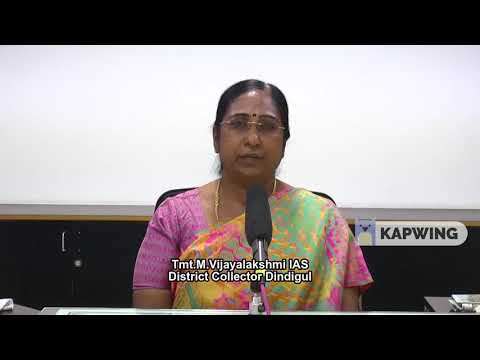Corona Virus Speech by Tmt.M.Vijayalakshmi IAS, District Collector, Dindigul