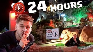 24 HOUR OVERNIGHT CHALLENGE AT MINI GOLF COURSE!