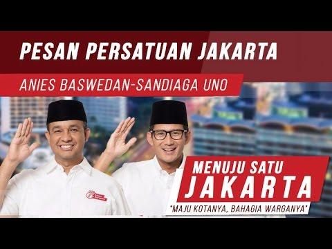Pidato Kemenangan Anies-Sandi Pesan Persatuan Jakarta