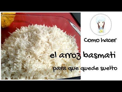 Como hacer el arroz para que quede suelto. Arroz basmati 'suelto'.