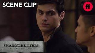 Shadowhunters | Season 2, Episode 9: #Malec Talk on the Balcony | Freeform