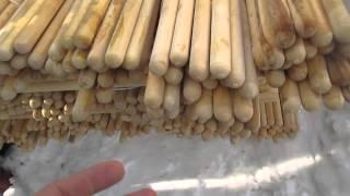 Шканты для бревен и бруса сруба д.30 мм от компании ЭКО-ДОМ - видео