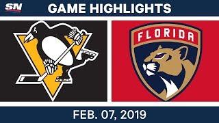 NHL Highlights   Penguins vs. Panthers - Feb. 7, 2019