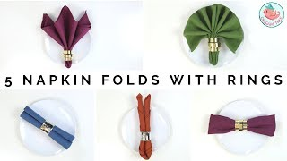 How To Fold Napkins With Rings: 5 Fancy Napkin Folding Techniques For Your Thanksgiving Dinner Table