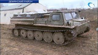 Поисковики «Долины» и российского военно-исторического общества несут вахту памяти в Демянском районе