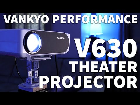 Vankyo Performance V630 Native 1080P Video Projector - Home Theatre Projector Setup in Room