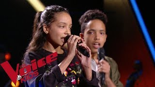 Katy Perry - Chain to the rhythm | Camila et Zion Luna | The Voice Kids France 2018 | Blind Audition