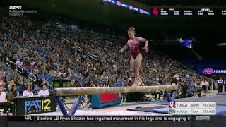 Anastasia Webb (Oklahoma) 2018 Beam vs UCLA 10.0