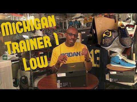 """""""Michigan"""" Jordan Trainer 1 Low w/ On-Foot Review"""