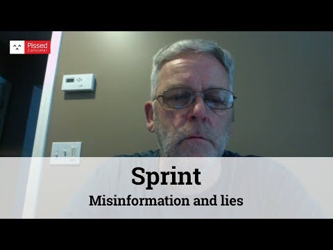Misinformation and lies from Sprint