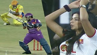 Bengal Tigers Lose Back To Back Wickets Vs Chennai Actress Priyamani, Laxmi Rai, Shruti Hassan Cheer