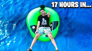 SPENDING 24 HOURS IN POOL CHALLENGE!!! *EXTREME*