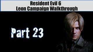 Resident Evil 6 Walkthrough (Leon Campaign) Pt. 23 - Epic Train Showdown