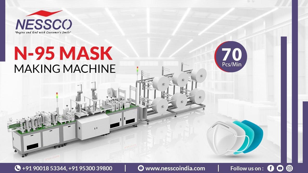 N-95 Face Mask Making Machine 70 Pcs/Min - Nessco