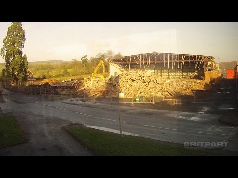 The old coldstore demolition at Britpart