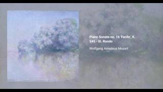 Piano Sonata no. 16 'Facile', K. 545