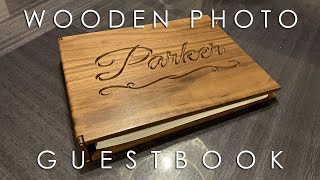 Walnut Wedding Guestbook | Polaroid Guestbook | X-Carve