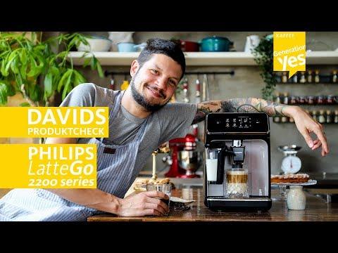 David erklärt den Philips 2200 Series Kaffeeautomaten LatteGo