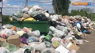 В деревне Мелечкино несколько дней не вывозится мусор