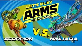 Let's Play ARMS - Ninjara Arcade Mode
