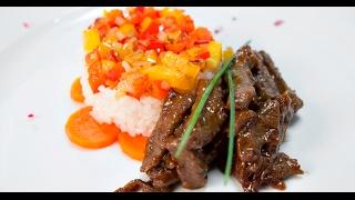 Говядина — рис — соевый соус | Если ужин быстро нужен