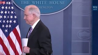 WATCH: Jeff Sessions Takes Reporter Questions on Immigration Law Risk at Sean Spicer Press Briefing
