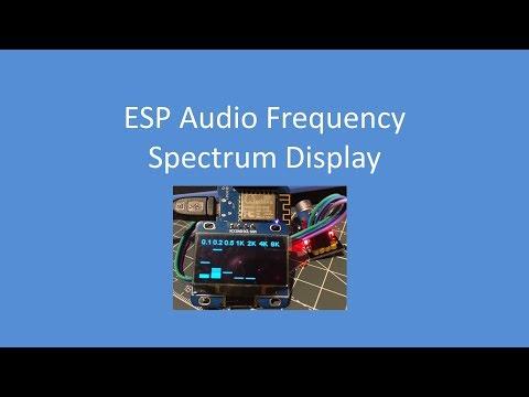 Audio spectrum analyzer with esp32 and lcd 4x20 - смотреть
