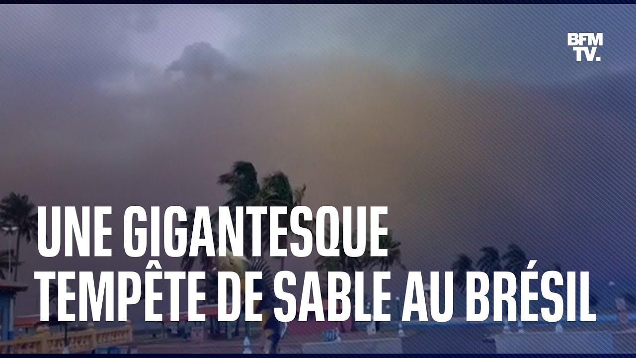 Une gigantesque tempête de sable s'est formée au Brésil samedi dernier
