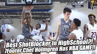 7-Footer Chet Holmgren Has Real NBA POTENTIAL! Best Shot-blocker in High School can SHOOT & DRIBBLE!