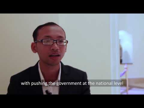 Image of the video: Phoeun Veasna, Cambodian Disabled People's Organization CDPO