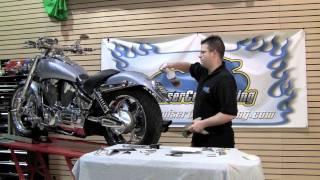 Kuryakyn 4248 Motorcycle License Plate Helmet Lock Video