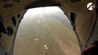 Подразделения десантно-штурмовой роты Каспийской флотилии выполнят 1000 прыжков