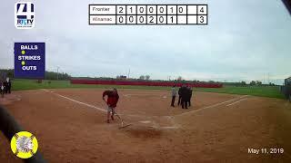 Winamac Softball vs Frontier